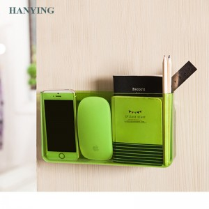 Creative wall-mounted storage box bathroom cosmetics storage rack remote control compartment box kitchen finishing box