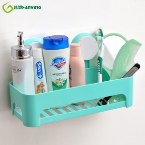 Lovely Modern Bathroom Storage Rack Organizer Shower Wall Shelf badkeamer planken mei Suction Cup