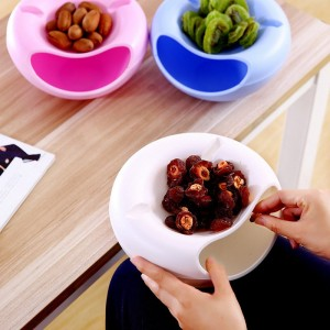 Creative Guna Tsaba Nut kwano kwano Candy Snacks Dry Fruit Mariƙin Storage Box Plate Dish tire da Mobile Phone Stents