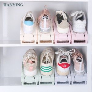 2019 Latest Model Shoe Space Saver Plastic Shoe slots Adjustable shoe organizer