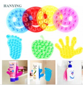 Strong Double-taobhach Suction Palm PVC Suction Cupa Toothpaste Space Sucker Stiogair seòmar-ionnlaid Anti Cidhe Mats