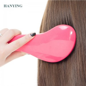 Magic Anti-socrach Hair cìr Fashion TT plastaig Hair bruisean Detangling Handle Tangle uisge Hair cìr stoidhle Tamer Tool