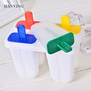 Creative Reusable Popsicle Molds Set 4 Ice Pop Maker Ice Cream Mold Ice Cube Tray Plastic Kitchen Supply for Kids