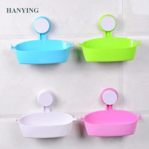 Badkamer Accessory Plastic badkamer Soap Dish Holder mei Suction Cup