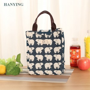 Wholesale Fashion Portable Lunch Bag Leisure Picnic Bag Sweet Shopping Bag