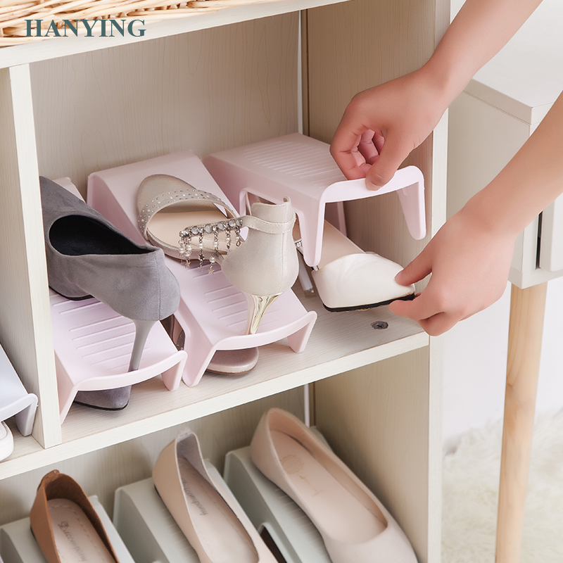 Fixation Morden Storage Cheap Shoe Rack Plastic Space Saver Cabinet Organizer Plastic Shelves Shoes Organizer Stand Shelf