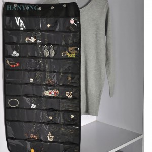 home storage Foldable Zipper Jewelry Hanging organizer Jewelry storage bag Fabric jewelry storage bag bathroom dust bag