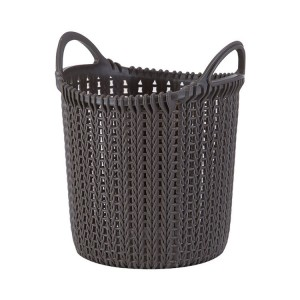 Multifunctional Space Save Household Plastic Laundry Basket Wicker Storage Basket With Handle