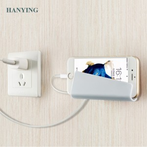 Amazon top sell 2018 unique design Creative Storage Holders Mobile Phone Charging Bracket Phone Holder Bathroom Shelves