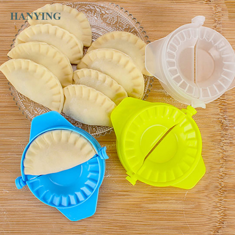 DIY Dumplings Tool Top Good Quality 7cm Dumpling Jiaozi Maker Device Easy Dumpling Mold Clips Cozinha Kitchen Accessories