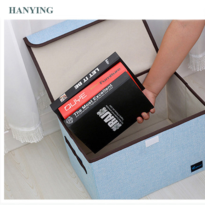 home storage Foldable compartment storage bag Clothes books sundries storage box