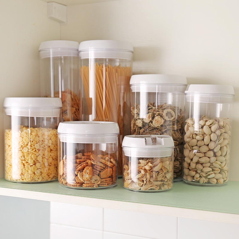 Europe and American TOP Plastic transparent Cereal Storage Box Airtight Grain Food containers for Kitchen