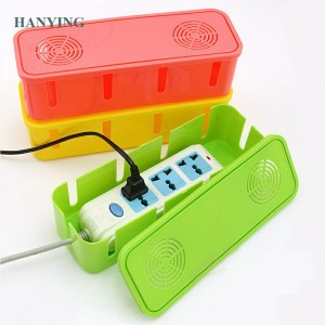 Hot selling household Large Capacity plastic Cable Management Socket Storage Box