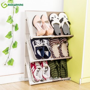 Amazing Space Saver Noir Chaussures Stacker Shoe Rack chaussures réglable chaussures modernes Armoires de chaussures modernes pour la maison