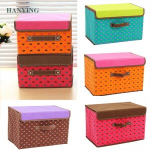 Folding Portable Colorful Pattern Clothes Organizer Storage Box Clothing Pouch Holder Blanket Pillow Storage Box