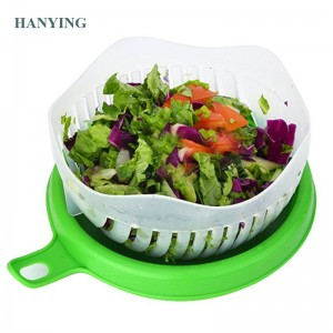 2018 nije Salade Cutter Bowl Behear Fruit Vegetable Salad Maker Bowl yn 60 Seconds Fast en effektive salade plastic bowl