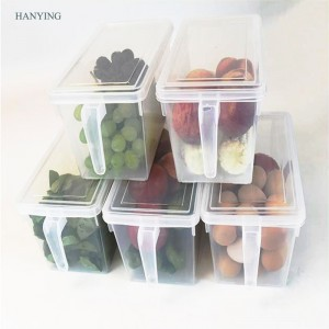 New square plastic crisper large capacity refrigerator storage box for household use