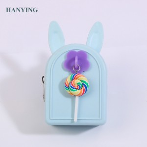 Creative mini coin purse candy kids wallet lovely silicone zero wallet rabbit shaped fancy coin purse