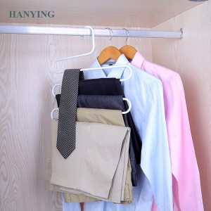 S-type metal trouser hanger Space Saver Pagtipig Metal Stronger alang sa Pagbitay Jeans, trouser, Scarf