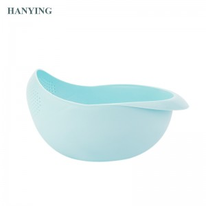 New multifunction plastic kitchen bowl fruit basket environmentally friendly household rice wash bowl