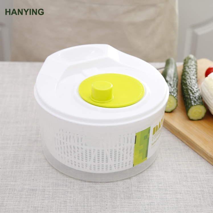 Salad Spinner – Manual Lettuce Spinner Dryer Fruits and Vegetables Dryer Large Bowl Storage Lid Included salad spinner bowl