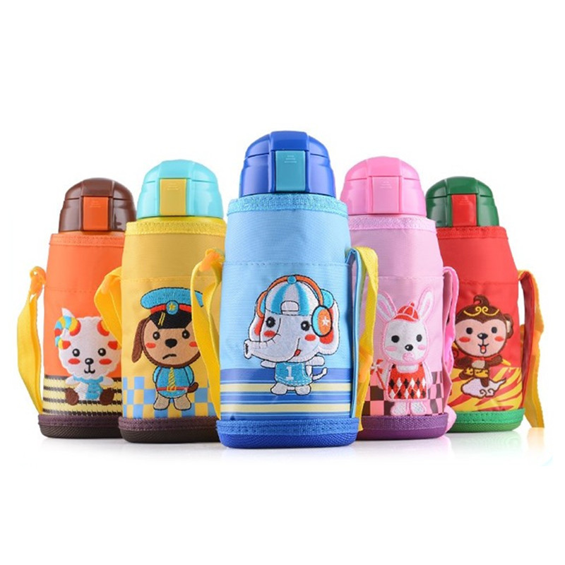 Hot Vacuum Insulated Cartoon 304 Stainless Steel Cup Children's Thermos Cup With Straw