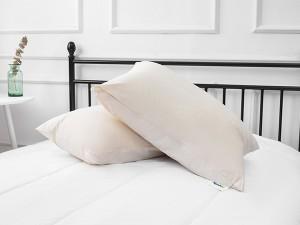 100% organic cotton 233TC pillow shell