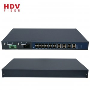 FTTH 8 Port GEPON GPON Dual Power Supply OLT Kompatibel med HUAWEI ZTE BDCOM ONU
