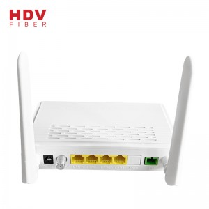 XPON Both Gpon and Epon ONU 1GE 3FE WIFI CATV for Family Gateway 1G3F CATV WIFI with 2 Antennas