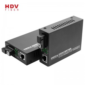Pentru Rj45 10/100 / 1000M 20km Single Fiber Single Mode Ethernet Fiber Media Converter