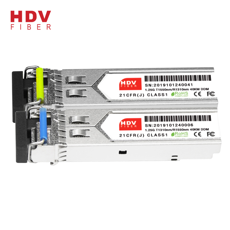 High reputation Bidi Module 40km Sfp - 1.25g Sfp Module 1310nm/1490(1550)nm Bidi Sfp Transceiver 40km Sfp Module With Ddm – HDV