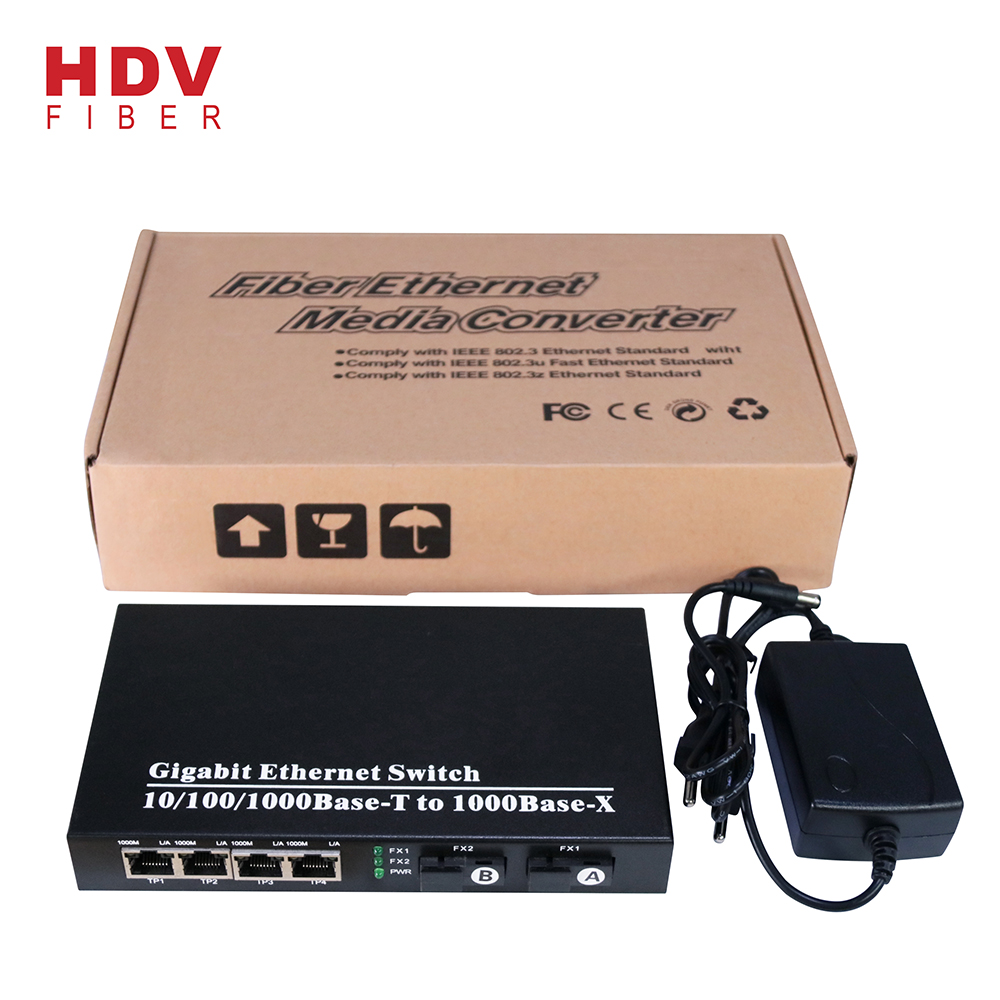 Managed Industrial Ethernet Switch - Full Gigabit 4 RJ45 Port Management Ethernet Switch With External power – HDV detail pictures