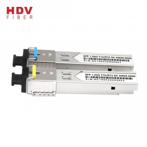 1.25G 20KM SC 1310/1550nm Single mode single fiber BIDI SFP