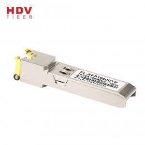 sfp modul satu port RJ45 10/100 / 1000M Base-T 100m transceiver optik sfp tembaga