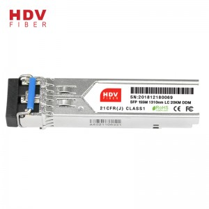 155m Lc 1310nm Dual Fiber 20km Fiber Optic Transceiver SFP Module