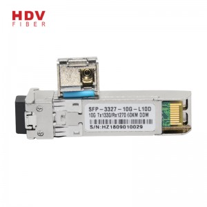Sfp 1g Transceiver - Reliable and stable 10g sfp module 60km bidi 1270/1330nm sfp+ transceiver module – HDV