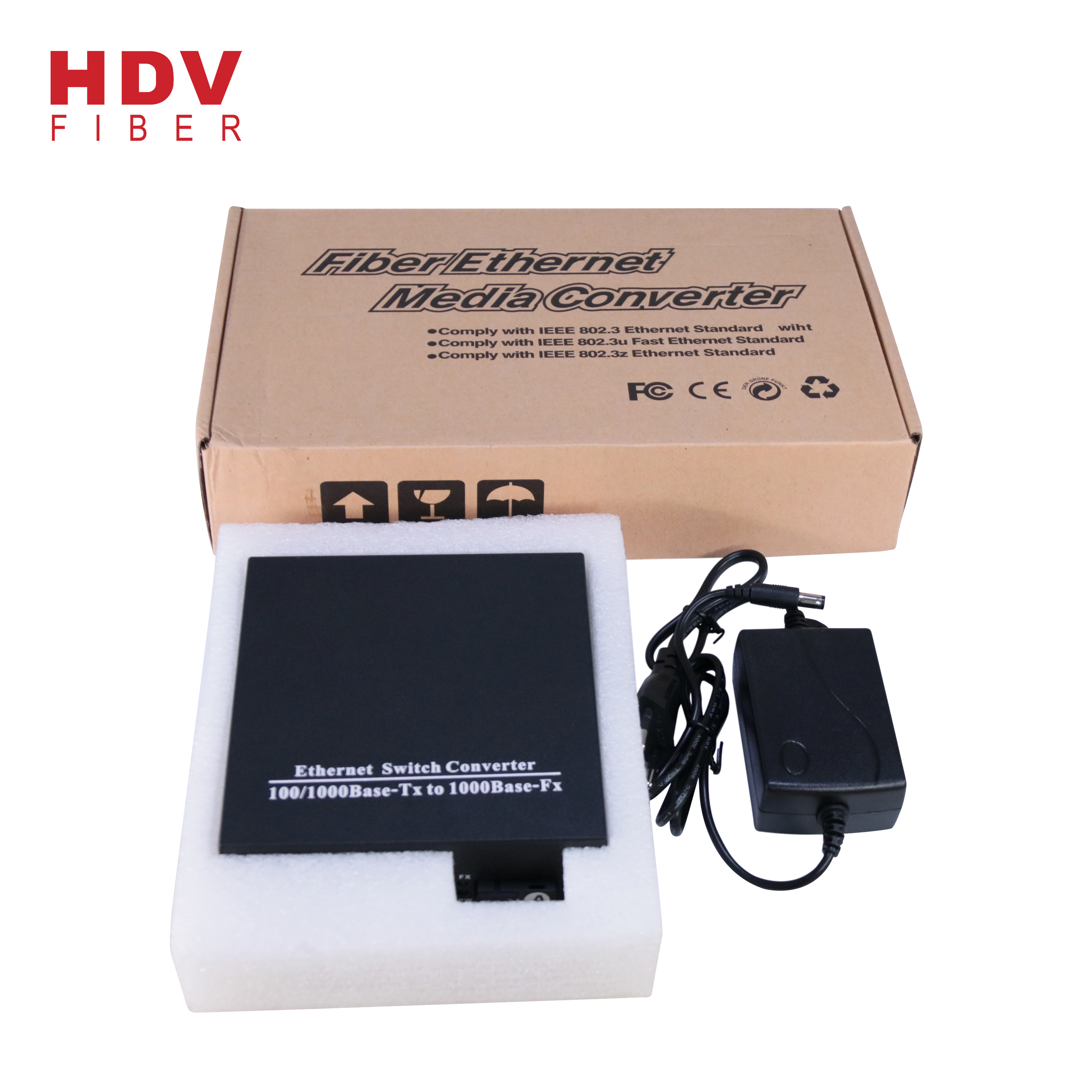 Manufacturer for Cisco Manage Switch - Hot Product 8*10/100M RJ45 port and 1*1000M gigabit fiber Port Media Converter – HDV