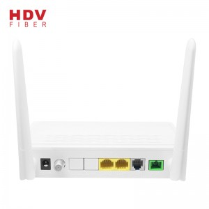 Wifi Router - High Quality Router Support FTTH 1GE+1FE  Wifi CATV PHONE GPON XPON ONU – HDV