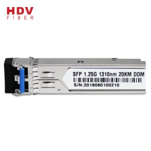 1.25G 20KM 1310nm Dual Serat mode Single modul SFP