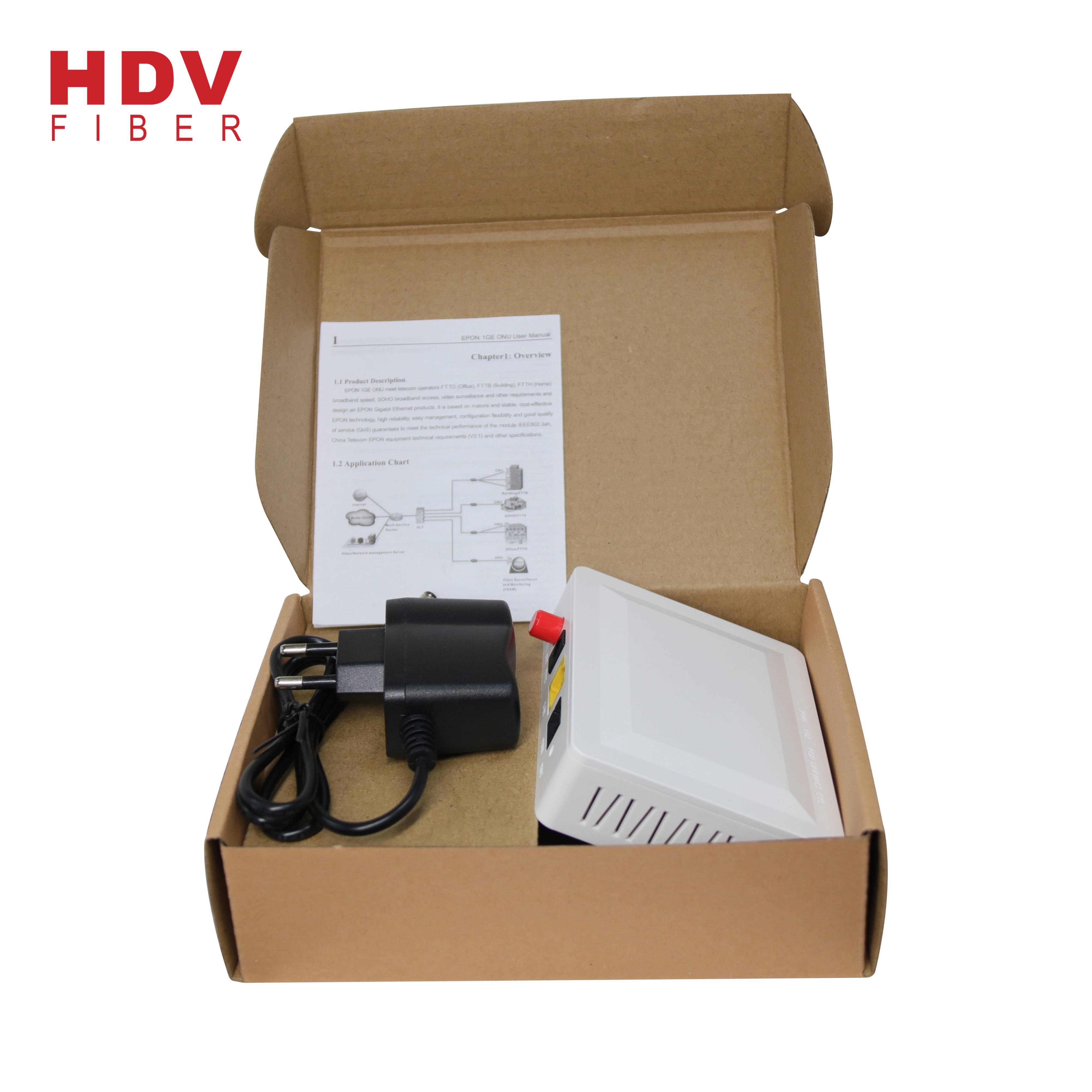 China Ftth Fiber Optic 1ge Epon Onu Ont Modem 1 Pon 1 Lan Gepon Zte