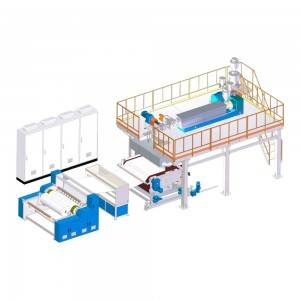 Melt-blown fabric production line
