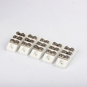 Electric ceramic terminal block connector