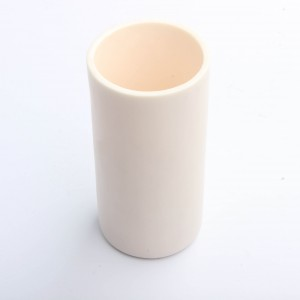 High temperature alumina crucible