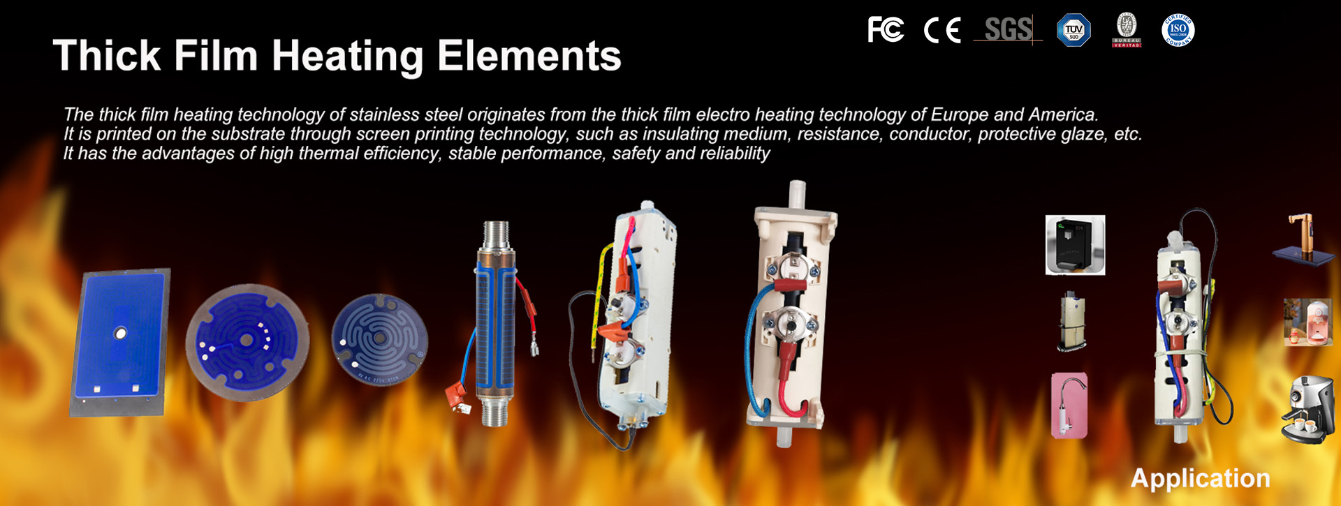Thick Film Heating Elements