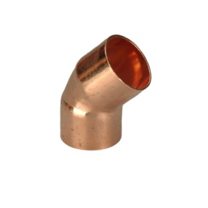 Factory directly 3/4 Copper Pipe Fittings Tee Elbow - 45/60/90 degree copper elbow pipe fitting – Wanhua