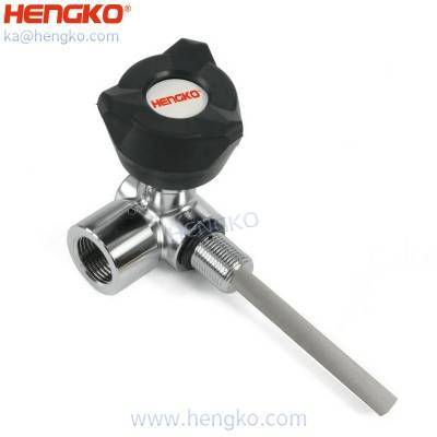 HENGKO High Pressure Composite Tank SCBA Valve Excellent Con – Sintered Powder Porous Stainless Steel Metal Filter