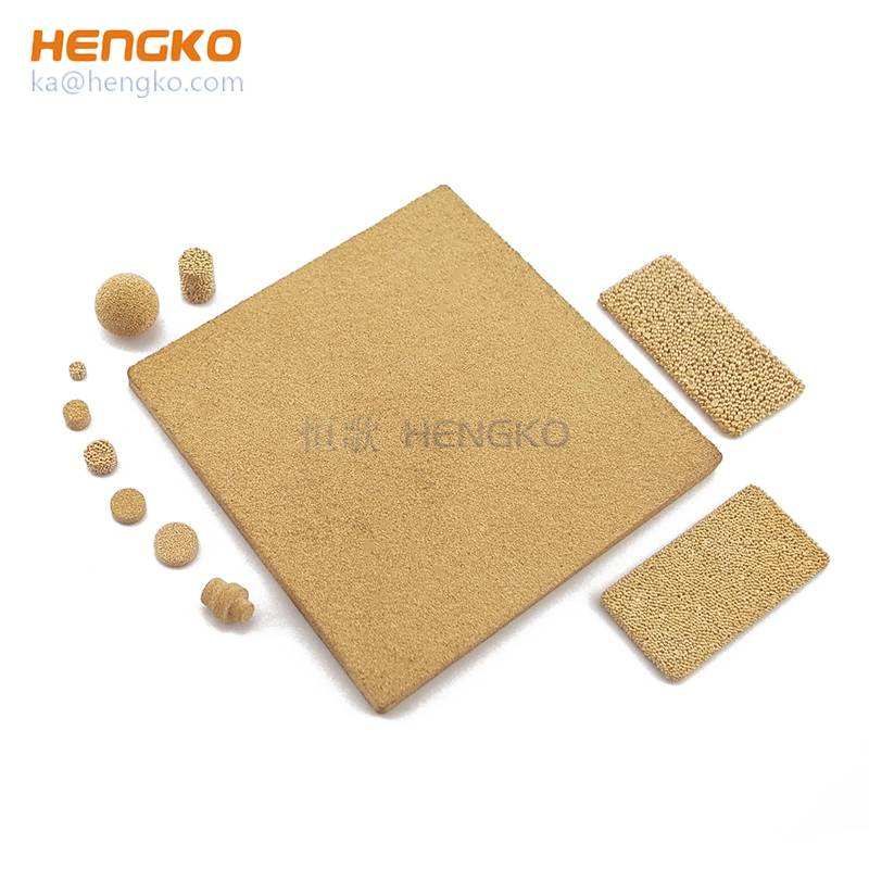 Flow control and fluid distribution sintered filter plate/sheet, powder sintered porous metal bronze copper stainless steel meterials Featured Image