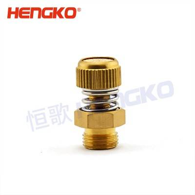 HSD 3/8 NPT Male manual with external spring and right adjustment muffler silencer air pneumatic solenoid crankcase, sintered bronze