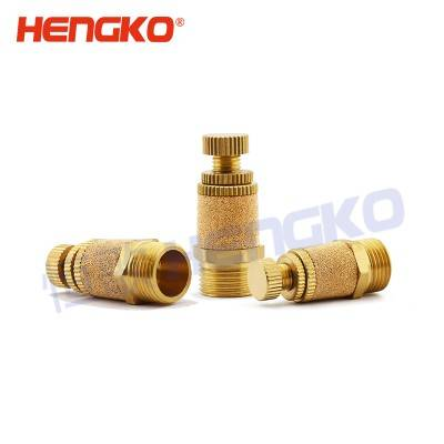 "OEM China Porous Stainless Steel - HB Micron Stainless steel Bronze Sintered Filter Element 1/4"" Air Pneumatic Flow Speed Controller Thread Muffler – HENGKO"