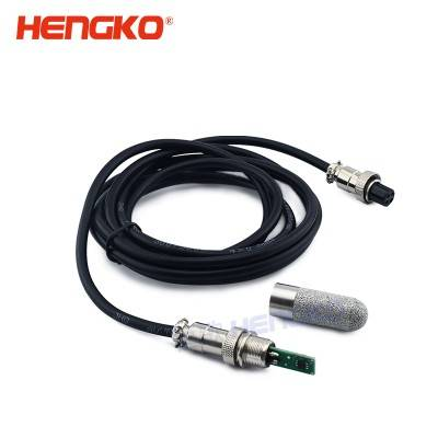 Excellent Long-term Stability Temperature And Humidity Sensor With Stainless Steel Protection Probe Filter Housing